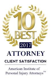 Client Satisfaction Award for Personal injury Attorney